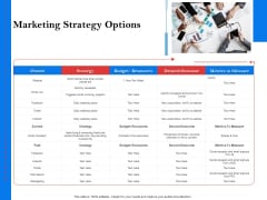 Tools To Identify Market Opportunities For Business Growth Marketing Strategy Options Slides PDF