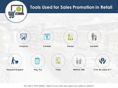 Tools Used For Sales Promotion In Retail Ppt PowerPoint Presentation Infographics Slide