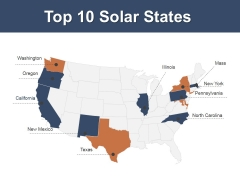 Top 10 Solar States Ppt PowerPoint Presentation Pictures Slide Portrait