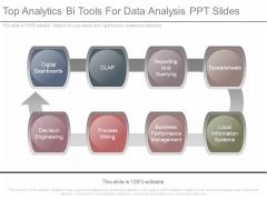 Top Analytics Bi Tools For Data Analysis Ppt Slides