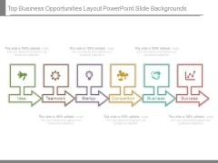 Top Business Opportunities Layout Powerpoint Slide Backgrounds