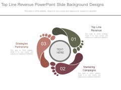 Top Line Revenue Powerpoint Slide Background Designs