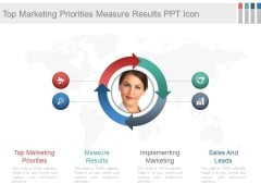 Top Marketing Priorities Measure Results Ppt Icon