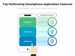 Top Performing Smartphone Application Features Ppt PowerPoint Presentation Portfolio Graphics Template PDF