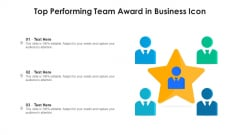 Top Performing Team Award In Business Icon Ppt PowerPoint Presentation File Elements PDF