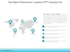 Top Sales Performance Locations Ppt PowerPoint Presentation Samples