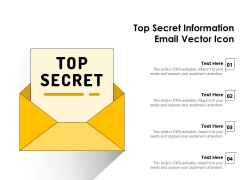 Top Secret Information Email Vector Icon Ppt PowerPoint Presentation Pictures Summary PDF