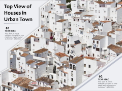 Top View Of Houses In Urban Town Ppt PowerPoint Presentation Gallery Vector PDF