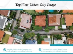 Top View Urban City Image Ppt PowerPoint Presentation Model Visuals PDF