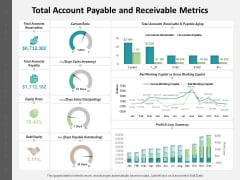 Total Account Payable And Receivable Metrics Ppt PowerPoint Presentation Icon Diagrams PDF