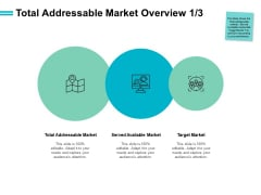 Total Addressable Market Overview Target Market Ppt PowerPoint Presentation Pictures Deck