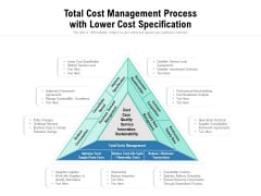 Total Cost Management Process With Lower Cost Specification Ppt PowerPoint Presentation Ideas Demonstration PDF