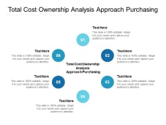 Total Cost Ownership Analysis Approach Purchasing Ppt PowerPoint Presentation Icon Slide Portrait Cpb