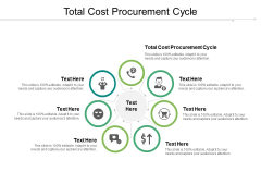 Total Cost Procurement Cycle Ppt PowerPoint Presentation Infographics Slides Cpb