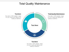 Total Quality Maintenance Ppt PowerPoint Presentation Ideas Guidelines Cpb
