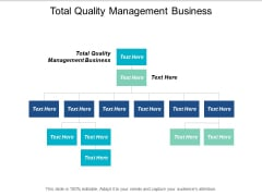 Total Quality Management Business Ppt PowerPoint Presentation Infographics Diagrams Cpb