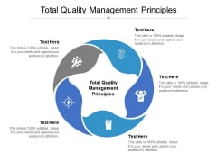 Total Quality Management Principles Ppt PowerPoint Presentation Show Good Cpb