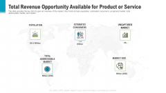 Total Revenue Opportunity Available For Product Or Service Microsoft PDF