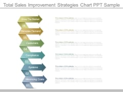 Total Sales Improvement Strategies Chart Ppt Sample