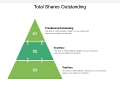 Total Shares Outstanding Ppt PowerPoint Presentation Infographics Brochure Cpb Pdf