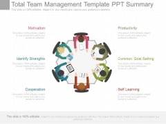 Total Team Management Template Ppt Summary