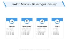 Tourism And Hospitality Industry Swot Analysis Beverages Industry Mockup PDF