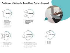Tourism And Leisure Firm Additional Offerings For Travel Tour Agency Proposal Ppt Summary Graphics Example PDF