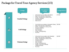 Tourism And Leisure Firm Proposal Package For Travel Tour Agency Services Ppt Infographic Template Graphic Images PDF