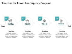 Tourism And Leisure Firm Timeline For Travel Tour Agency Proposal Ppt Slides Background PDF