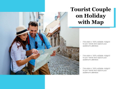 Tourist Couple On Holiday With Map Ppt PowerPoint Presentation Summary Graphic Images