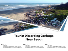 Tourist Discarding Garbage Near Beach Ppt PowerPoint Presentationmodel Brochure PDF