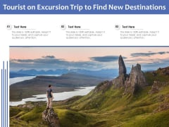 Tourist On Excursion Trip To Find New Destinations Ppt PowerPoint Presentation Icon Inspiration PDF