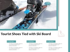 Tourist Shoes Tied With Ski Board Ppt PowerPoint Presentation Styles Brochure PDF