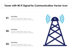 Tower With Wi Fi Signal For Communication Vector Icon Ppt PowerPoint Presentation Slides Elements PDF