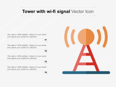 Tower With Wi Fi Signal Vector Icon Ppt PowerPoint Presentation Model Background Images