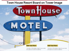 Town House Resort Board On Tower Image Ppt PowerPoint Presentation Icon Professional PDF