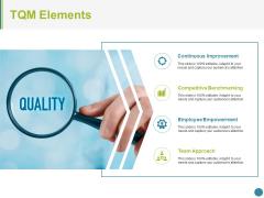 Tqm Elements Ppt PowerPoint Presentation Ideas Templates
