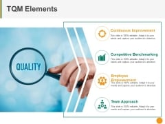 Tqm Elements Ppt PowerPoint Presentation Professional Icon