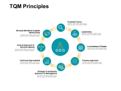 Tqm Principles Circular Portfolio Ppt PowerPoint Presentation Icon Layouts