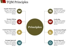 Tqm Principles Ppt PowerPoint Presentation Ideas Graphics Template