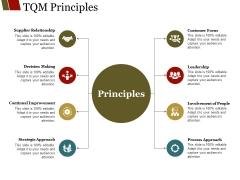 Tqm Principles Ppt PowerPoint Presentation Ideas Graphics Template