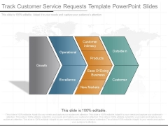Track Customer Service Requests Template Powerpoint Slides