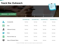 Track The Outreach Ppt PowerPoint Presentation Summary Aids