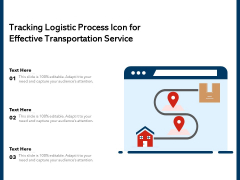 Tracking Logistic Process Icon For Effective Transportation Service Ppt PowerPoint Presentation Inspiration Backgrounds PDF