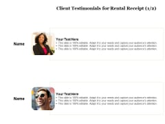 Tracking Rent Receipt Invoice Summary Client Testimonials For Rental Receipt Ppt Outline Graphic Tips PDF