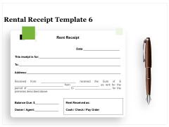 Tracking Rent Receipt Invoice Summary Rental Receipt Template Cash Ppt Slides Inspiration PDF