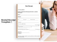 Tracking Rent Receipt Invoice Summary Rental Receipt Template Information Ppt Layouts Gridlines PDF