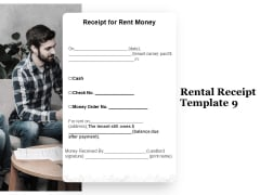 Tracking Rent Receipt Invoice Summary Rental Receipt Template Money Ppt Pictures Brochure PDF
