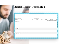 Tracking Rent Receipt Invoice Summary Rental Receipt Template Property Ppt Show Icon PDF