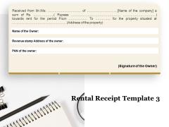 Tracking Rent Receipt Invoice Summary Rental Receipt Template Revenue Ppt Slides Skills PDF